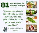 31 de março - Dia Nacional da Saúde e Nutrição